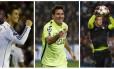 Crsitiano Ronaldo, Messi e Neuer, os três finalistas do prêmio de melhor jogador do mundo em 2014