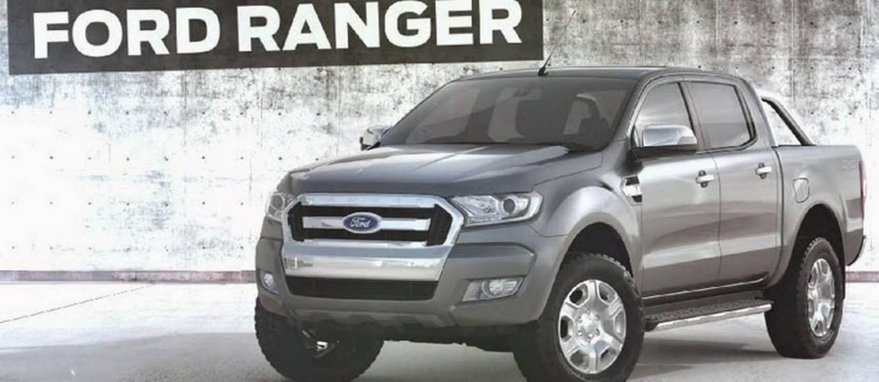 Ford Ranger 2016 Foto: Divulgação