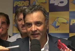 O senador Aécio Neves Foto: Divulgação