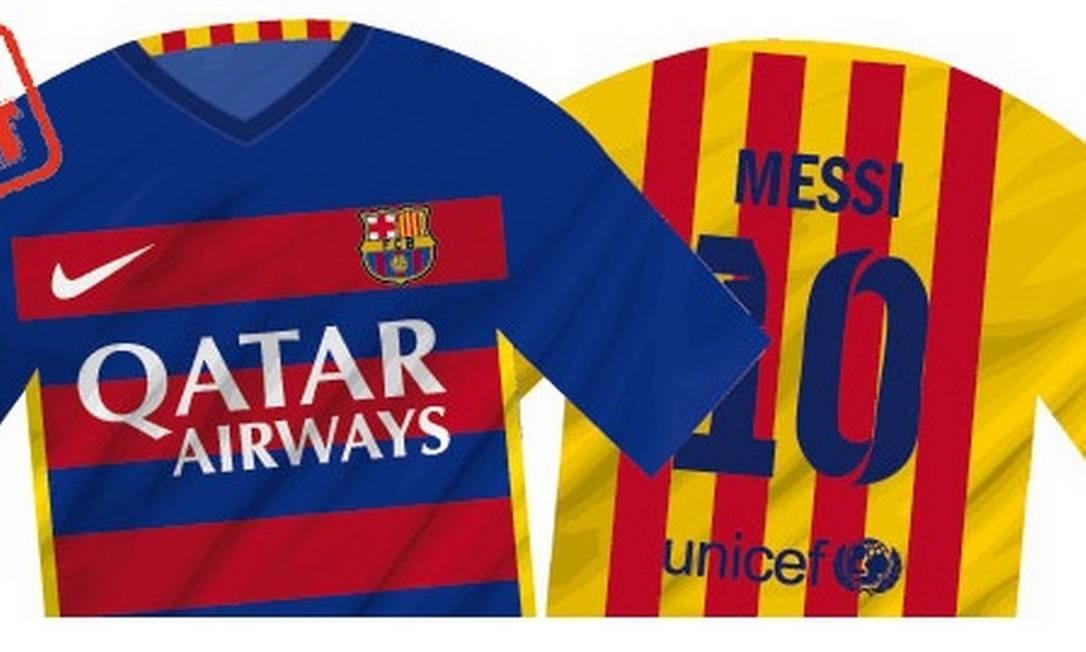 Barcelona pode mudar formato de listras da camisa pela primeira vez na  história - Jornal O Globo 479df18de6d6f