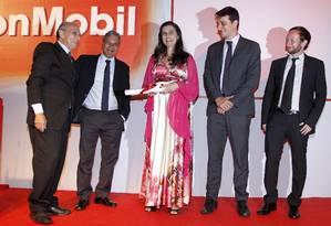 Os jornalistas do GLOBO durante entrega do Prêmio Esso, no Copacabana Palace Foto: Fernando Quevedo / O Globo