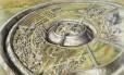 Representação mostra como era a cidade medieval