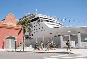 Pier Mauá: passageiros embarcam no Porto do Rio Foto: RICARDO KURTZ/Divulgação/Píer Mauá