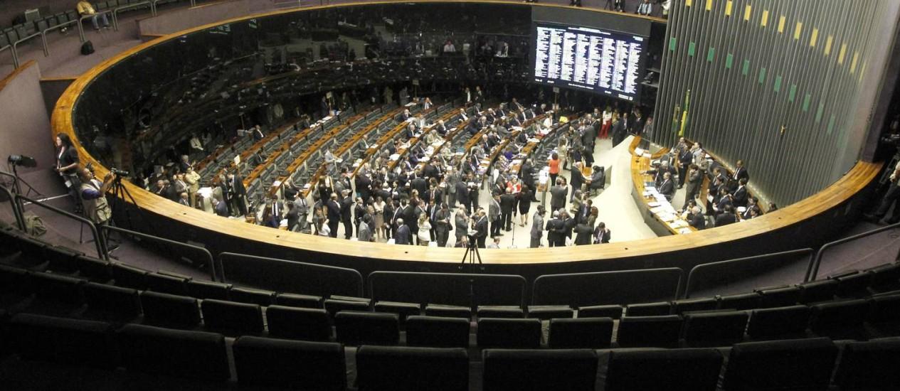 Galerias do Congresso Nacional ficam vazias Foto: Givaldo Barbosa / Agência O Globo