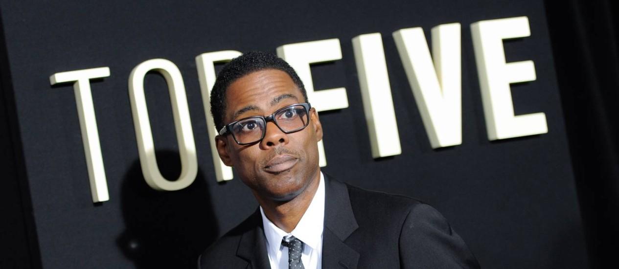 Chris Rock no Ziegfeld Theatre: críticas à 'brancura' de Hollywood Foto: Evan Agostini / Invision/AP