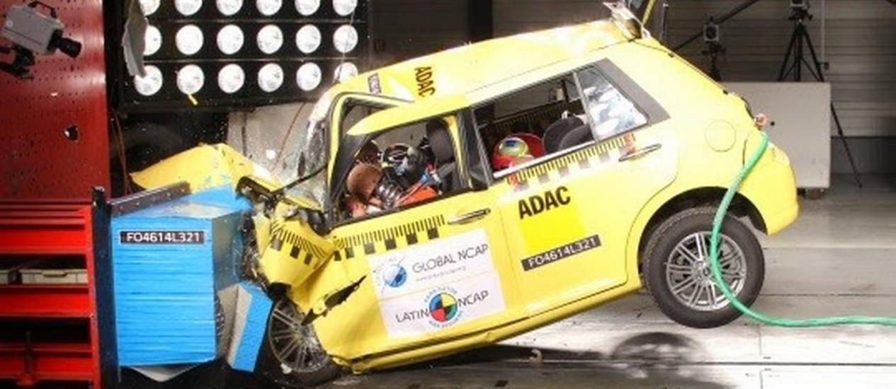 Lifan revela estrutura instável em colisões Foto: Divulgação