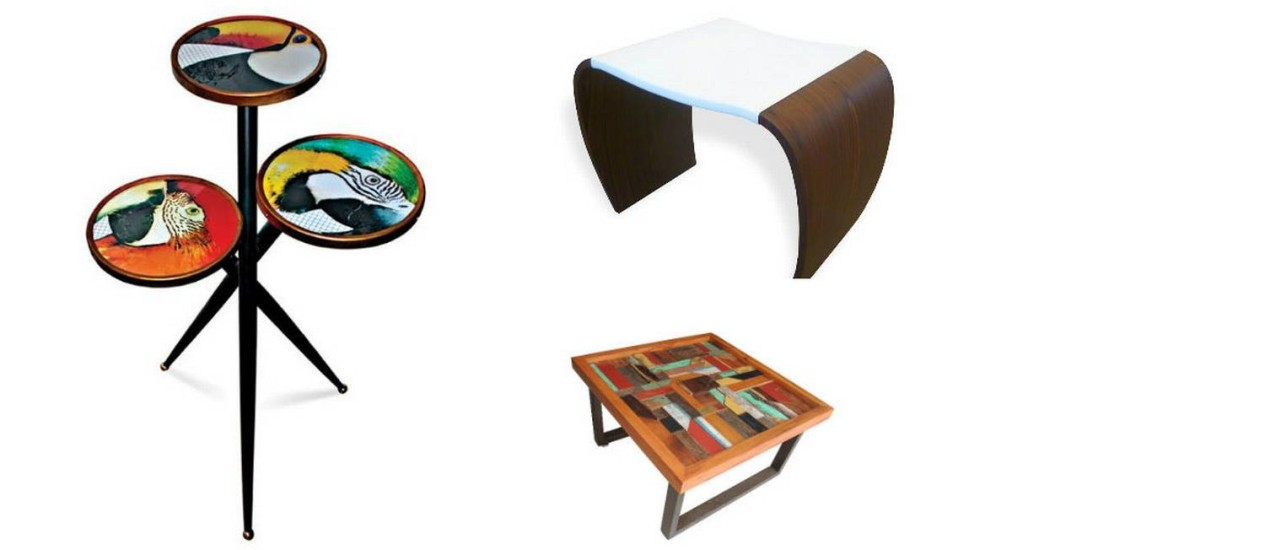 Mesa lateral, de centro banco estão entre os produtos disponíveis para entrega imediata Foto: Divulgação
