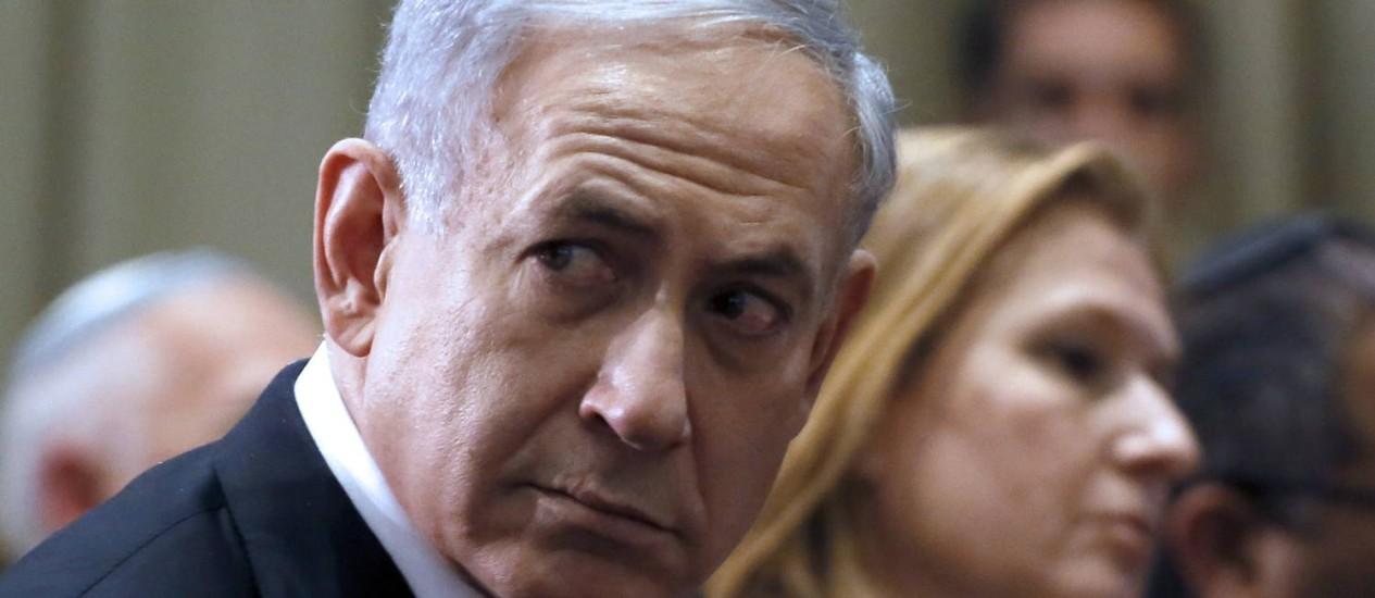 Situação de Benjamin Netanyahu não é fácil: premier encontra séria resistência da esquerda e da direita Foto: GALI TIBBON / AFP