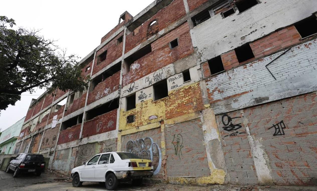 Na Rua Miguel Angelo, onde foi removida a ocupação conhecida como Carandiru Foto: Pablo Jacob / O Globo