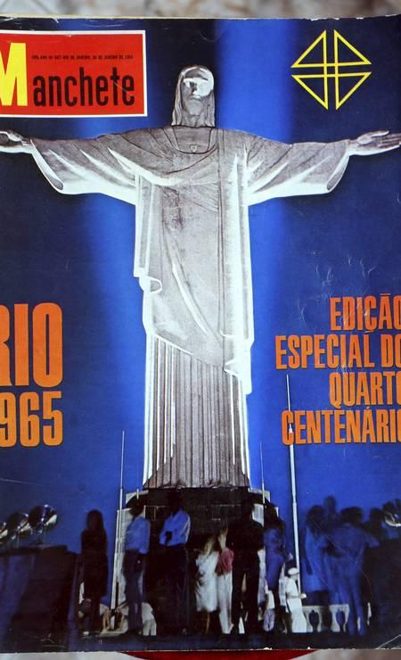 Outra edição da revista Manchete conta a história dos 400 anos da Cidade Maravilhosa Foto: Cezar Loureiro / Agência O Globo