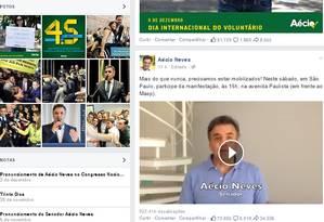 Aécio Neves fez convocação para ato Foto: Reprodução