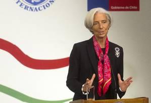 Lagarde alerta para alta do dólar, queda das commodities e necessidade de reformas sociais Foto: Claudio Reyes/AFP