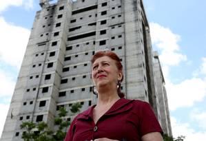 Helena de Campos Malachias, proprietaria de um apartamento na zona leste de SP construido pela Bancoop, no residencial Analia Franco comprado em 2001 e ate hoje não entregue. Foto: Fernando Donasci / Fernando Donasci