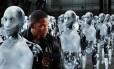 """No filme """"Eu, robô"""", máquinas se levantam contra a humanidade"""