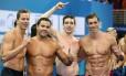 Cesar Cielo, Felipe Franca, Marcos Macedo, Guilherme Guido: o revezamento 4x100m medley, campeão mundial da prova