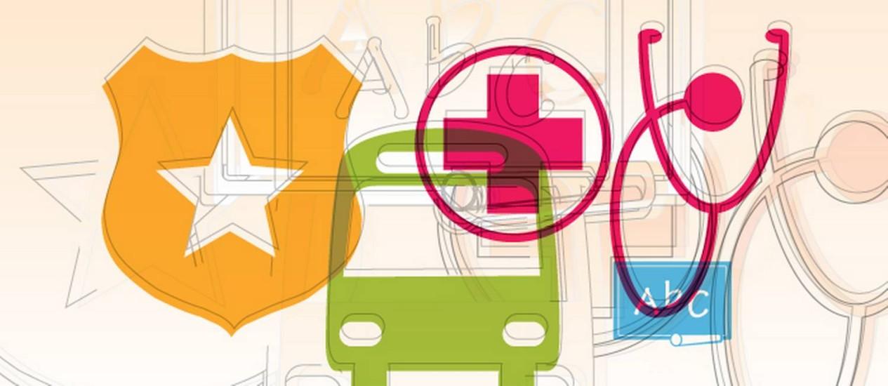 Segurança, saúde, mobilidade e serviços devem ser considerados numa troca de endereço Foto: Arte O Globo