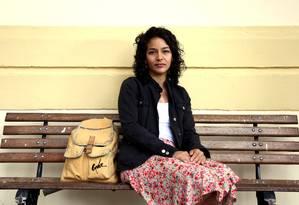 A estudante Leticia Pinho, de 26 anos, participa da frente feminista da USP Foto: Fernando Donasci / Agência O Globo