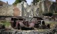 As ruínas do povoado Oradour-sur-Glane, na França