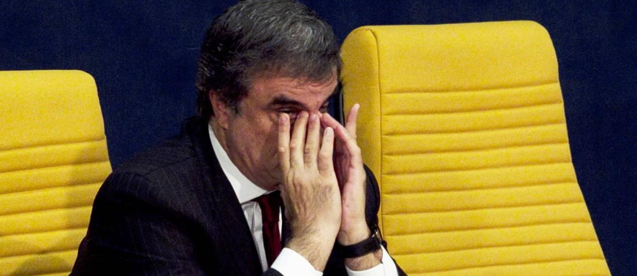 José Eduardo Cardozo, ministro da Justiça, participa da Conferência Internacional de Combate à Corrupção, em Brasília Foto: Jorge William / Agência O Globo