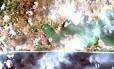 Primeiras imagens da câmera multiespectral brasileira MUX, a bordo do satélite CBERS-4, mostra a Região dos Lagos