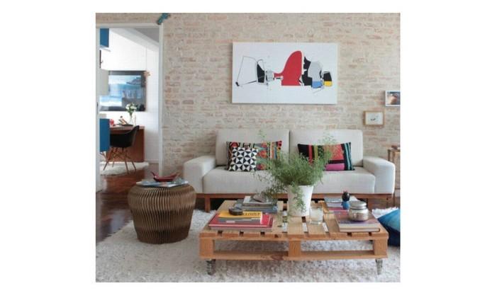 Decoração relax com pitadas de cor Foto: Hirstórias de Casa