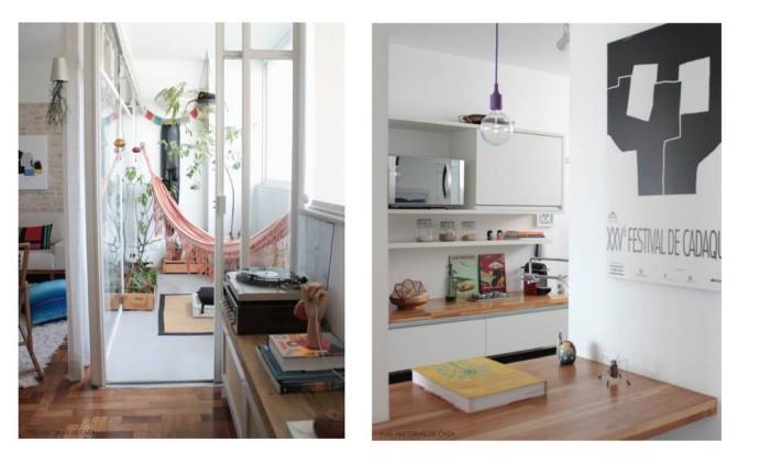 Varanda e cozinha Foto: Histórias de Casa
