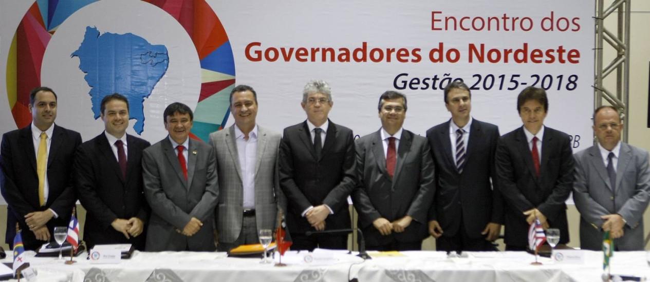 Os governadores eleitos do Nordeste durante o encontro em João Pessoa Foto: Hans von Manteuffel / Agência O Globo