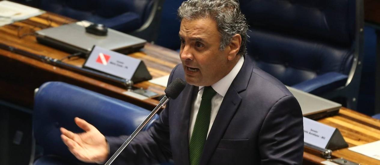 O senador Aécio Neves (PSDB-MG) Foto: Ailton de Freitas / Agência O Globo
