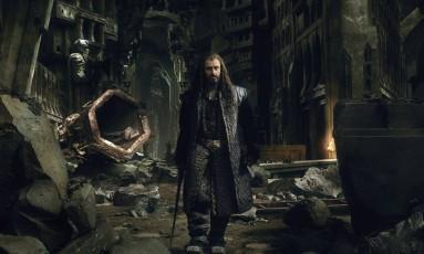 Cena de 'O hobbit — A Batalha dos Cinco Exércitos'; Richard Armitage vive Thorin na trama Foto: Divulgação
