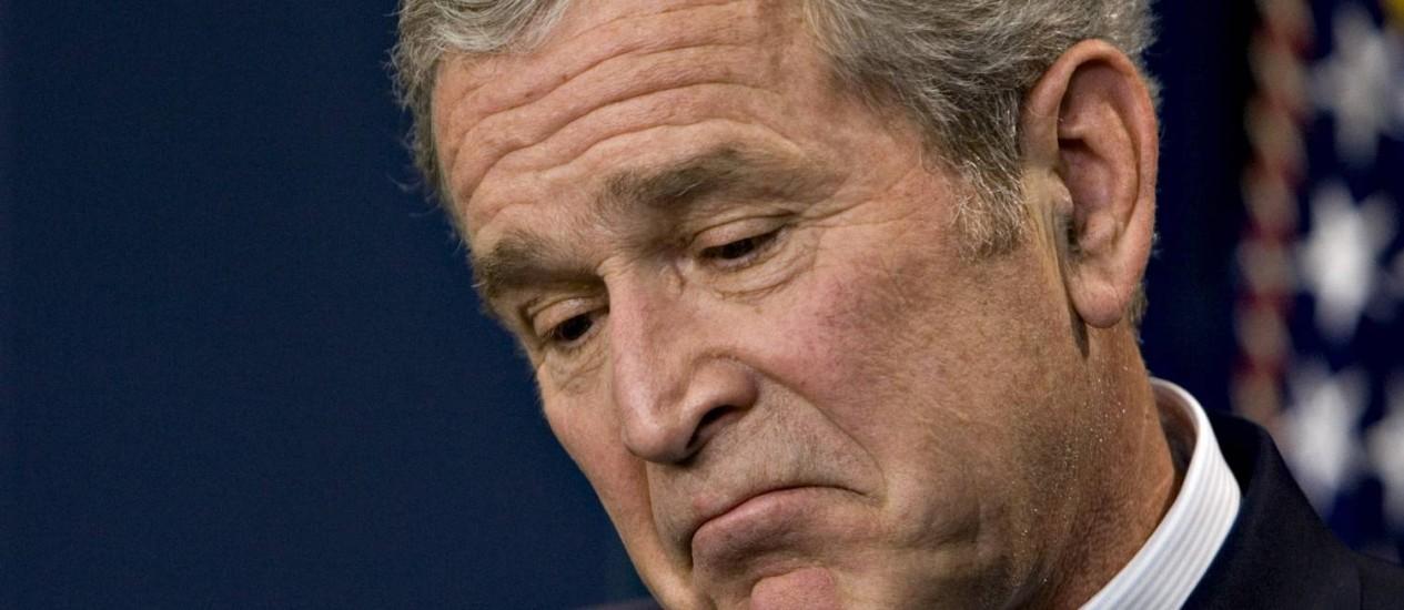 Presidente George W. Bush comandou os Estados Unidos entre 2001 e 2009 Foto: J. Scott Applewhite / AP