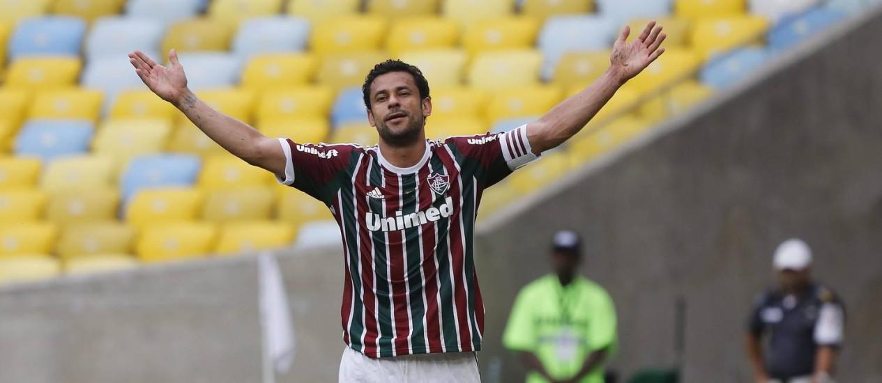 Fred é o maior astro do Fluminense, e o fim da parceria com a Unimed pode apressar a saída dele do clube Foto: Gustavo Miranda / Agência O Globo