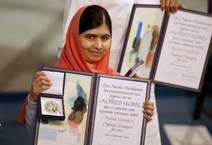 Malala e a medalha do Nobel: planos na política Foto: Matt Dunham / AP