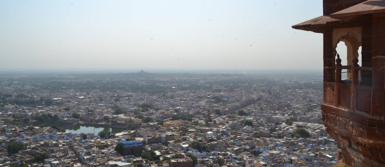 Vista da cidade de Jodhpur a partir da fortaleza Foto: Agência O Globo / Mari Campos