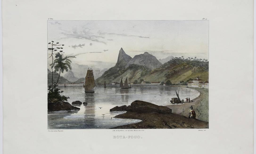 'Botafogo' (1835) em gravura de Johann Moritz Rugendas Foto: Edouard Fraipont/ divulgação