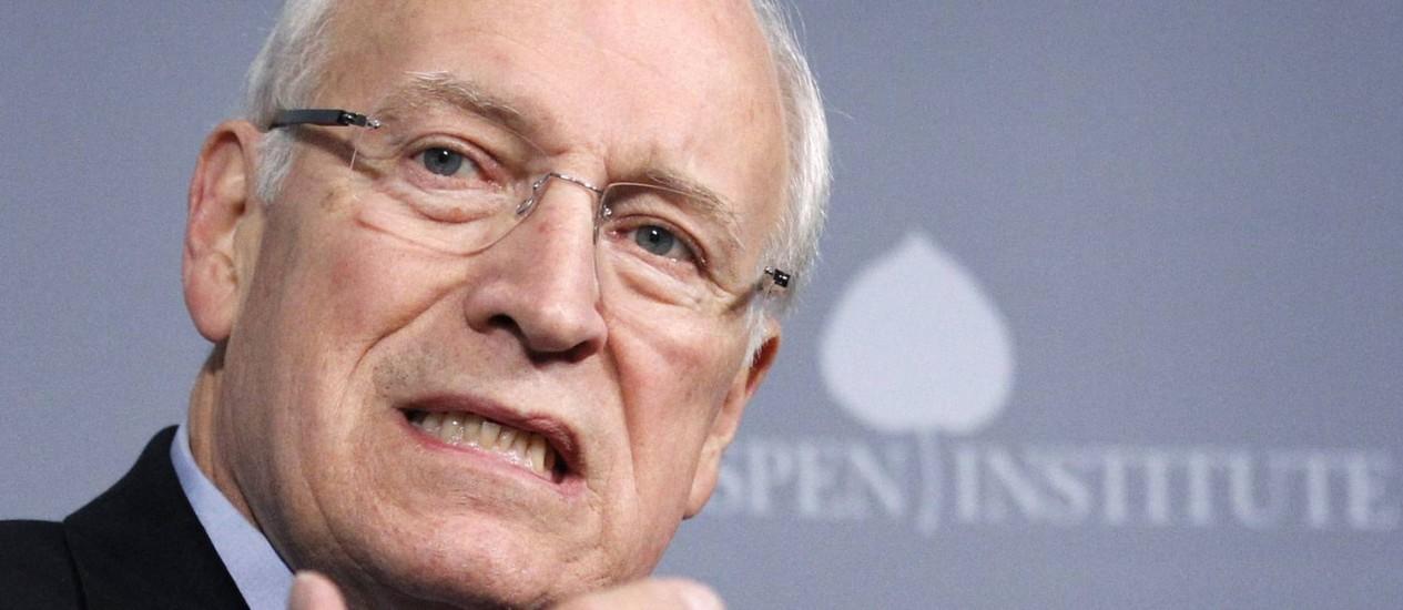 Ex-vice-presidente Dick Cheney criticou reações ao relatório da Comissão do Senado sobre as atividades da CIA Foto: Manuel Balce Ceneta / AP