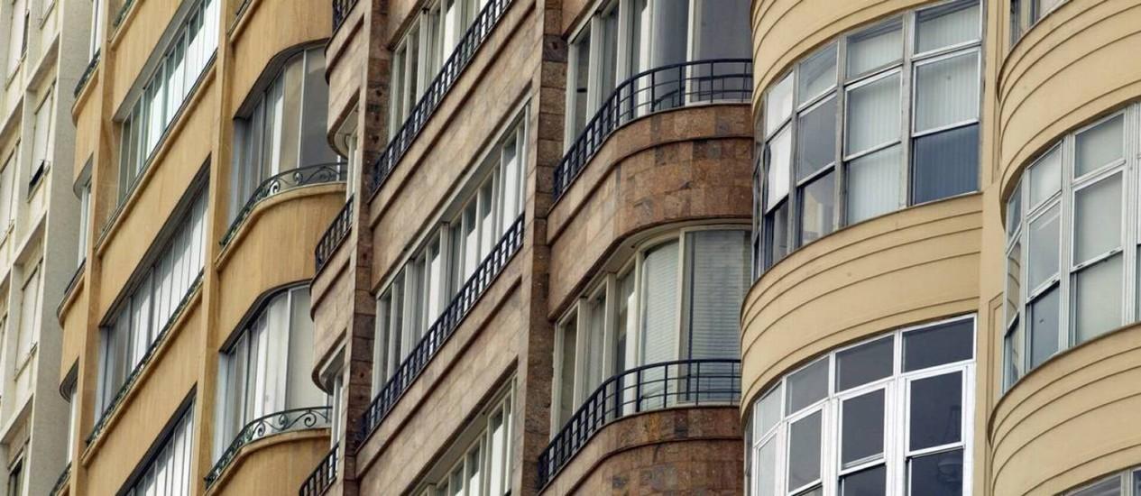 Queda no interesse de compra para investimento de imóveis no país no terceiro trimestre do ano Foto: O Globo