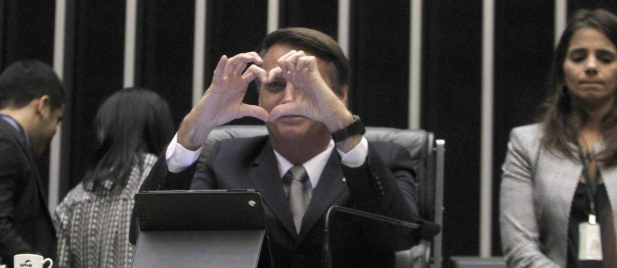 O deputado Jair Bolsonaro Foto: Givaldo Barbosa / Agência O Globo