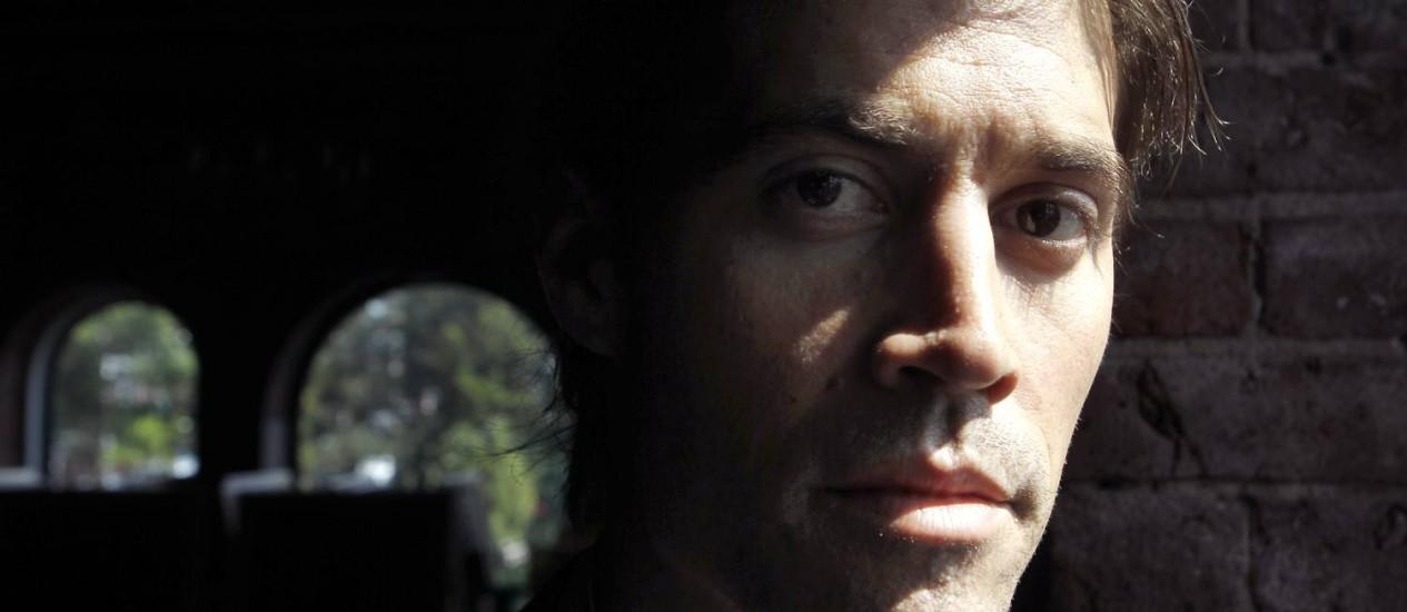 O jornalista americano James Foley, morto em agosto pelo Estado Islâmico Foto: Steven Senne / AP