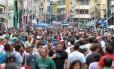 A Rua 25 de março: doleiro envolvido com a Petrobras teria usado o comércio popular de São Paulo para lavar dinheiro