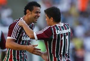 O vice de futebol, Mário Bittencourt, disse que as estrelas do time vão permanecer no Fluminense Foto: Guito Moreto / Agência O Globo