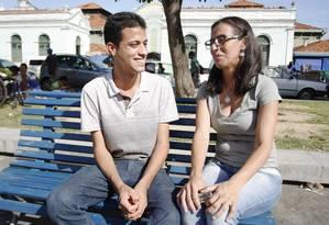 Mãe de Álvaro, a comerciária Jaqueline Maria dos Santos precisou da ajuda de associação para defender seu filho na Justiça Foto: Hans von Manteuffel / Agência O Globo