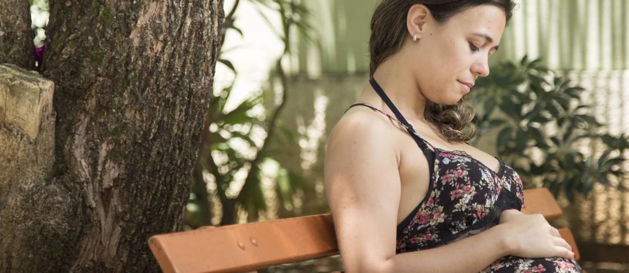 Depois de engravidar pela segunda vez, Raquel Corrêa ouviu que seu perfil não era 'interessante' para a empresa Foto: Leo Martins / Agência O Globo