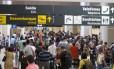 Movimento intenso no Aeroporto Santos Dumont