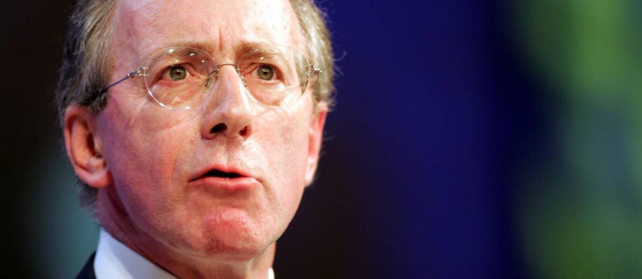 Malcolm Rifkind. Presidente da Comissão de Inteligência e Segurança do Reino Unido quer acesso a informações omitidas no realório do Senado americano sobre a CIA Foto: PAUL ELLIS / AP