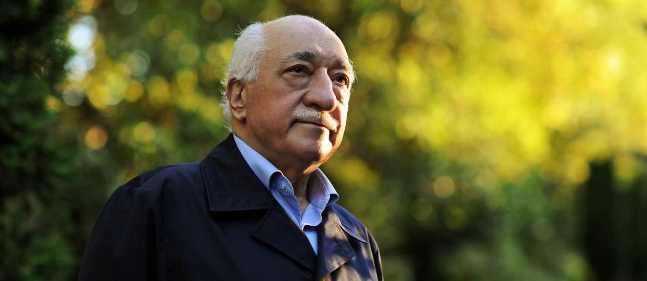 Fethullah Gülen em sua casa na Pensilvânia, nos Estados Unidos Foto: Selahattin Sevi / AP