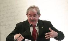 Ex-presidente Luiz Inácio Lula da Silva Foto: Jorge William / Agência O Globo