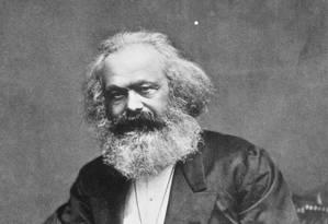 Karl Marx: pensador alemão diminuiu a produção de cartas no final da vida Foto: Agência O Globo