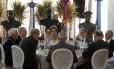 A presidente Dilma Rousseff durante almoço de confraternização com os oficiais-generais das Forças Armadas