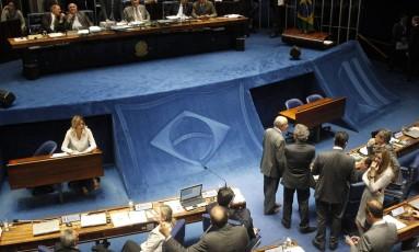 O Senado aprovou rejustes para parlamentares, ministros do STF e presidente da República Foto: Givaldo Barbosa / Agência O Globo