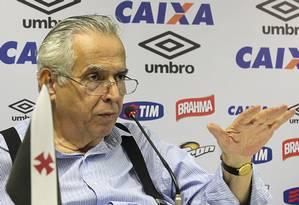 O presidente do Vasco, Eurico Miranda Foto: MarceloSadio / Vasco da Gama